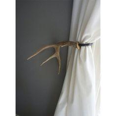 Antler Curtain Tie Backs Diy