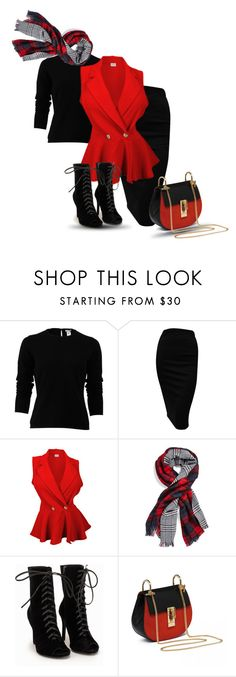 """Winter Plaid"" by pastora-val ❤ liked on Polyvore featuring Oscar de la Renta, Michael Stars and Nly Shoes"