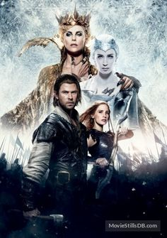 The Huntsman Winter's War  - Promotional art with Charlize Theron, Emily Blunt, Chris Hemsworth & Jessica Chastain