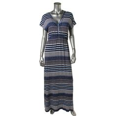 Design History Womens Printed Dolman Sleeves Casual Dress
