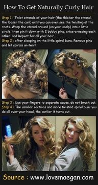 Curly hair trick- I do it all the time.  :3