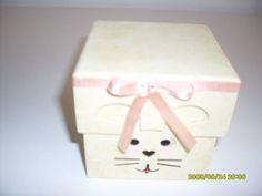 caixa decorada coelho da pascoa
