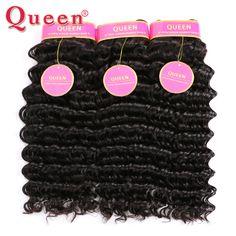 8A Brazilian Virgin Hair Deep Wave 3 Bundles Virgin Brazilian Deep Curly Human Hair Weave Rosa Queen Hair Products Deep Curly