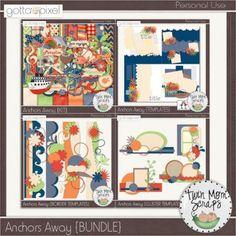 Anchors Away Digital Scrapbook BUNDLE at Gotta Pixel. www.gottapixel.net