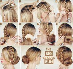 big braid bun