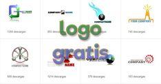 Logo gratis, cientos de plantillas gratuitas para tu logotipo Logos Gratis Online, Name Logo, Company Names, Card Designs, Different Fonts, Free Stencils, Free Downloads, Logos, Business Names