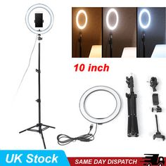 US Stock Acazon Mini 8 Inch LED Selfie Light Ring 24W 120 Bulbs LED Ringlight Dimmable Round Continuous Circle Video Lights Lamps for Portrait YouTube Video Shooting