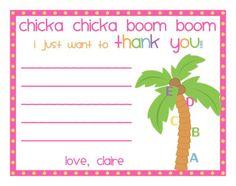 Chicka Chicka Boom Boom Thank you notes. $4.00, via Etsy.
