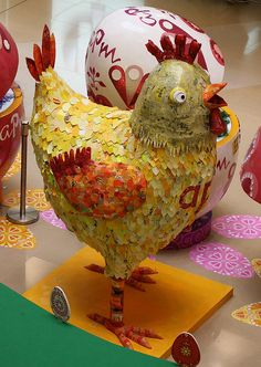 Michelle Reader's Chicken made from recycled material