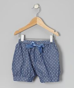 Take a look at this Blue Polka Dot Bow Shorts - Toddler & Girls by Funkyberry on #zulily today!