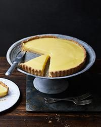 French Lemon Tart | In this classic citrus tart, the lemony custard is poured into the baked tart shell, so there's no need to worry about an undercooked crust or a curdled filling.