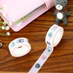 Succulents Washi Tape Paper Stickers Scrapbooking Masking Tape DIY Cintas Decorativas De Papel Adhesiva #Affiliate