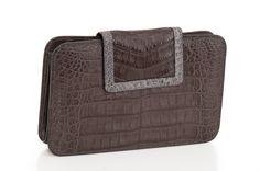 Square #crocodile #clutch.  Handmade in Colombia. $750