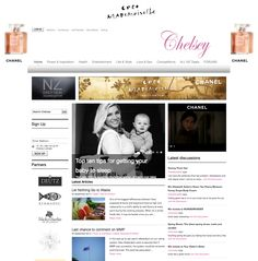 Chanel site skin and banners on www.Chelsey.co.nz