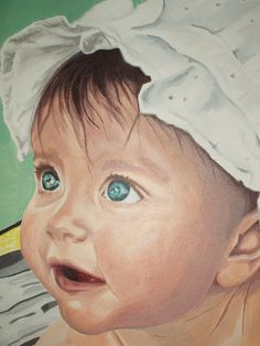 A close up of Baby Ella.  This is the first baby I've painted.  It was quite a challenge, but it was appreciated by her parents.