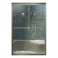 This Semi Custom Shower Enclosure Showcases Kohleru0027s Memoirs Line. The Shower  Base Is Prefabricated And Designed To Complement The Design And Lines Of  The ...