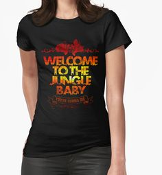 """""""Welcome to the jungle"""" Womens Fitted T-Shirts by windrose 