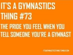 """A previous pinner wrote: """"This is the thing I miss the most. But once a gymnast, always a gymnast about you two, but I dont think u could ever quit gymnastics, I think i would die first Gymnastics Funny, All About Gymnastics, Gymnastics Problems, Gymnastics Videos, Gymnastics Quotes, Acrobatic Gymnastics, Gymnastics Workout, Sport Gymnastics, Olympic Gymnastics"""