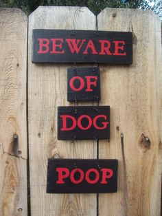 Beware, of, Dog, Poop, Sign, Hand Painted, Hand Made,. $19.00, via Etsy.