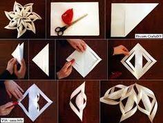 Resultado de imagen para copos de nieve de papel