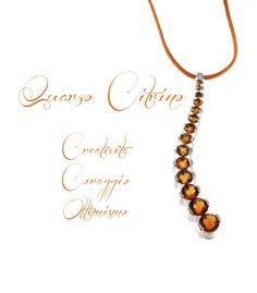 #Colla in oro bianco e #quarzo #citrino. http://www.gioielloitaliano.net/collane/oro/bianco/collana-con-pendente-in-quarzo-citrino-e-oro-bianco-18-kt.html