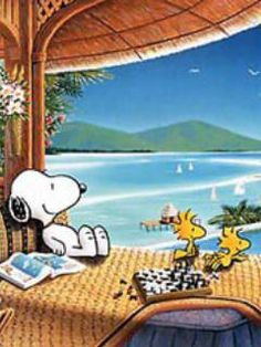 Summer Vacation, Snoopy & Woodstock.