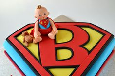 Cool as Superhero birthday cake tutorial. make your own diy superman cake for your childs party. Superman Baby Shower, Superhero Baby Shower, Superhero Birthday Cake, Superhero Party, Superman Party, Birthday Cakes, Birthday Ideas, Superman Cakes, Superman Logo