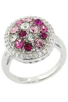 BJG Eternally Haute Pink Crystal Dabi Krystal Cocktail Ring - Beyond the Rack
