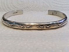 Navajo Rare Handmade 2 Row Braided .925 SOLID Sterling Silver Bracelet
