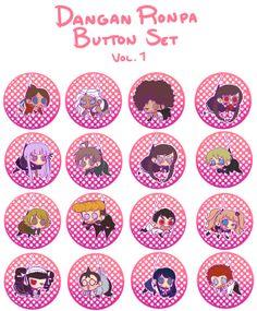 Dangan Ronpa 2.25 in Buttons