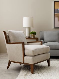 California Lounge Chair in the honey hued low-sheen Sienna finish | Barbara Barry Collection | Baker Furniture