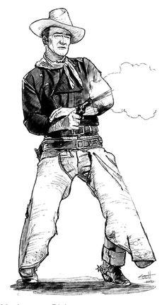ArtStation - Duke Sketch, Scott Austin - New Ideas Ken Parker, Cowboy Artwork, Westerns, Horse Stencil, John Wayne Movies, Western Comics, Mexico Art, West Art, Wood Burning Art