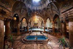 Underground Tea Room, Vakil Bazaar. Kerman, Iran. Photo by Diego Lezama Orezzoli, via Corbis.  ..example of what was described in the book Naji and the mystery of the dig. #childrenstories #najistories