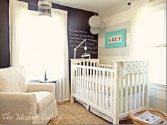 would be cute to paint one wall black with chalkboard paint