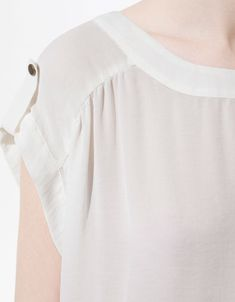 LONG SLEEVE BLOUSE WITH ELASTICATED HEM - Shirts - Woman - ZARA United States