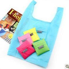 Baggu cores sacolas de doces reutilizável saco de compras portátil bolsa dobrável almoço saco bolsa de grandes