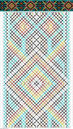 Muster # 92575, Streicher: 42 Zeilen: 70 Farben: 6