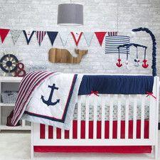 Anchors Away 6 Piece Crib Bedding Set
