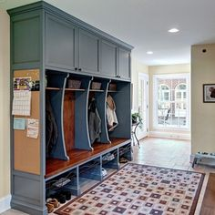 Mudrooms Design Ideas, Pictures, Remodel and Decor - I like the bulletin board