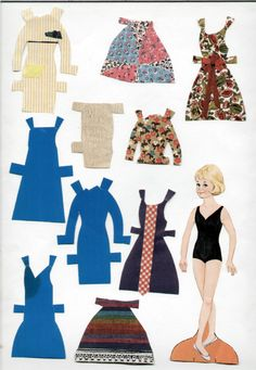 Wendy!!! The paper doll that had fabric swatches on paper and you made the clothes yourself!  Sigh.