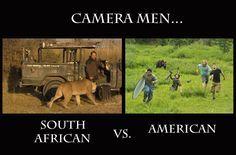 Cameramen: SA vs. America #wildlife