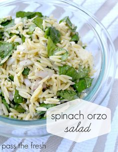 This has to be my new favorite salad. So flavorful - and only takes about 20 minutes to put together! #passthefresh