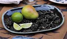 Sgraffito platter by Gypsy Sisters Studio