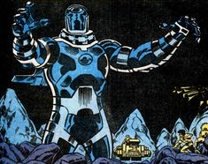 comics borrow heavily from ancient legends - Blue Celestial from Thor 424 Marvel Comics - The first ever documented Celestial that was seen born.