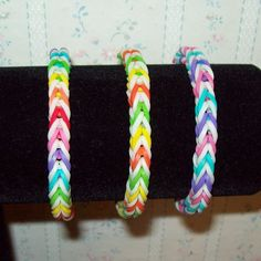 Rainbow Loom Rubber Band Bracelet Christmas Colors Fishtail