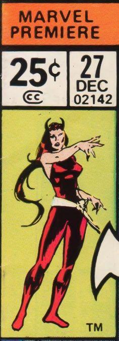 Marvel Premiere corner box - Satana