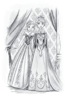 Anna and Elsa together!