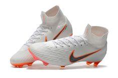 the best attitude 2ed66 e63c3 Botas de Futbol Nike Mercurial Superfly VI FG - Blanco Naranja Gris