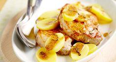 Côtes de porc moutardées à la normandeVoir la recette des Côtes de porc…