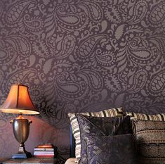 Paisley Allover Stencil Pattern. I WILL somehow manage to find time to do this!!! LOVE, LOVE, LOVE IT! Imagine all of the different color combo's you could use with this design and make it look completely different!